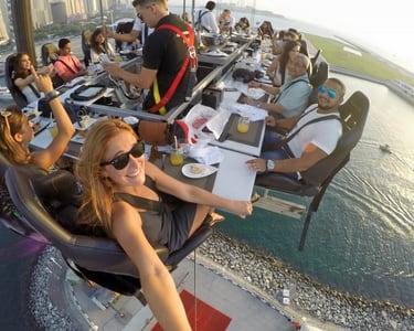 Dinner in the Sky Dubai Flat 10% off