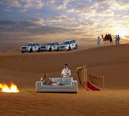 Dubai City Tour Combo with Dhow Cruise and Desert Safari Flat 17% off