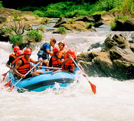 Rafting at Kitulgala in Sri Lanka