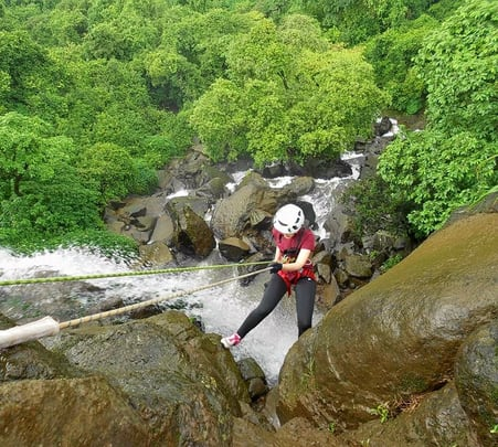 Waterfall Rappelling and Trekking in Lonavala