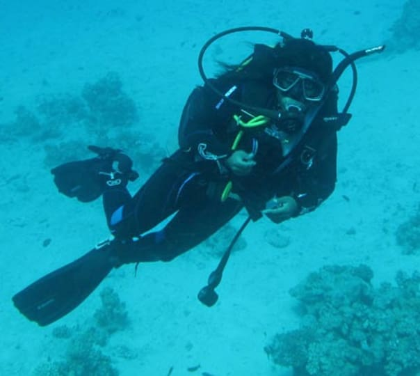 Diving for fun in Goa