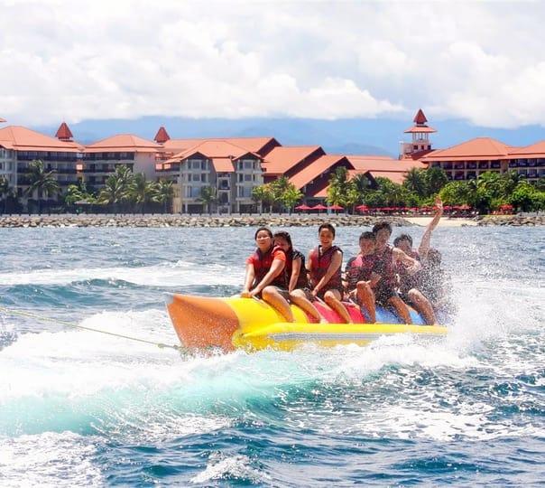 Banana Boat Ride at Tunku Abdul Rahman Marine Park