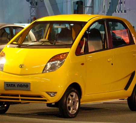 Rent a Tata Nano in Bangalore