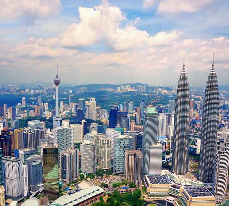 Flying a Plane above Kuala Lumpur