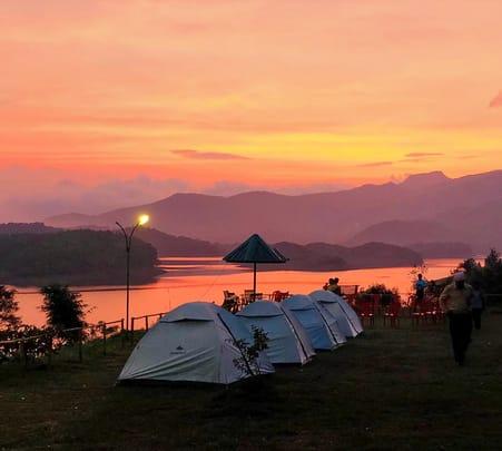 Camping in Wayanad Hills at Seagot Banasura
