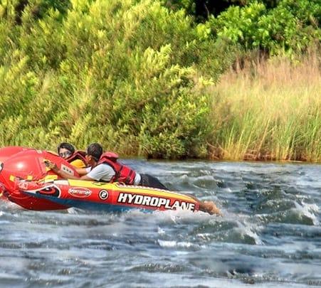 Bumper Boat Ride in Kundalika River