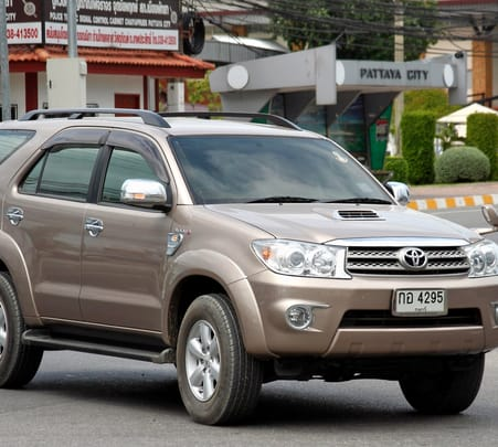Rent a Toyota Fortuner in Chandigarh
