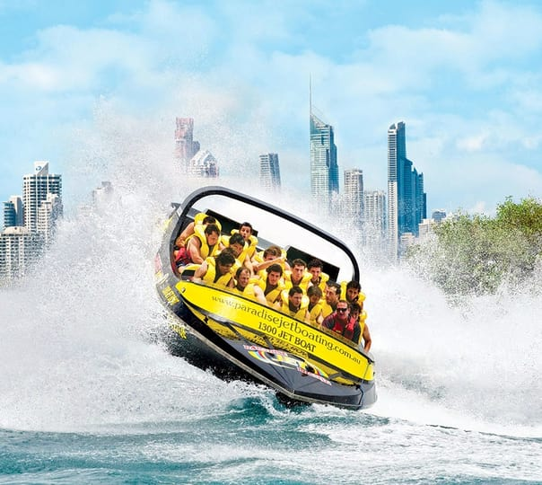 Jet Boating Ride at Gold Coast in Australia