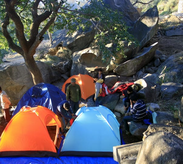 Camping at Mount Abu