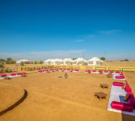 Swiss Tent Camping in Sam Sand Dunes, Jaisalmer