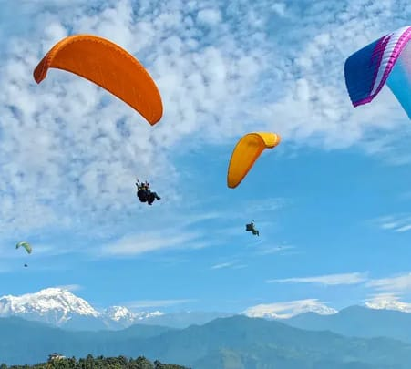 Combo: Paragliding + Bungee + Zipflyer in Nepal