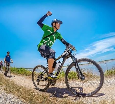 Bangkok City to Shore Cycling Day Tour in Thailand