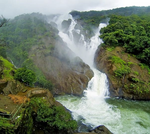 Trip to Dudhsagar Waterfalls in Goa