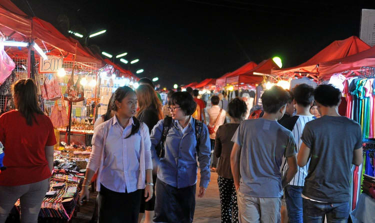 Shopping In The Night market