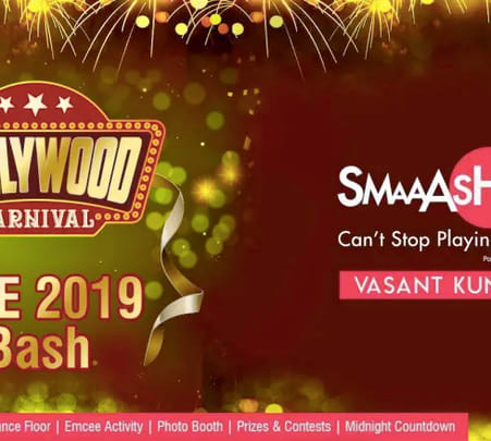 New Year's Eve 2019 Bollywood Carnival Dance Party At Smaaash Ambience Mall, Delhi