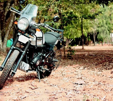 Rent a Royal Enfield Himalayan in Bangalore City