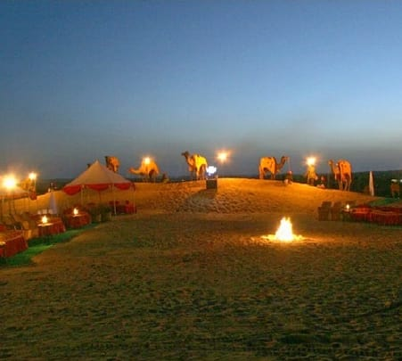 Dinner on the Dunes at Osian in Rajasthan