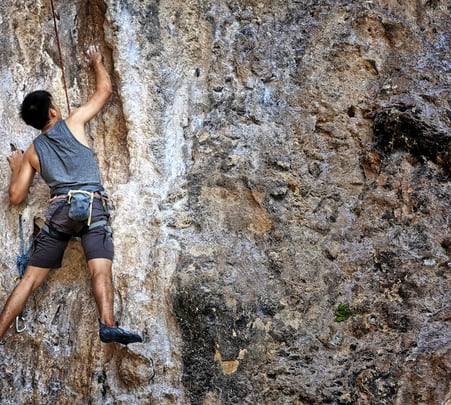 Thrilling 90° Rock Climbing near Coorg.