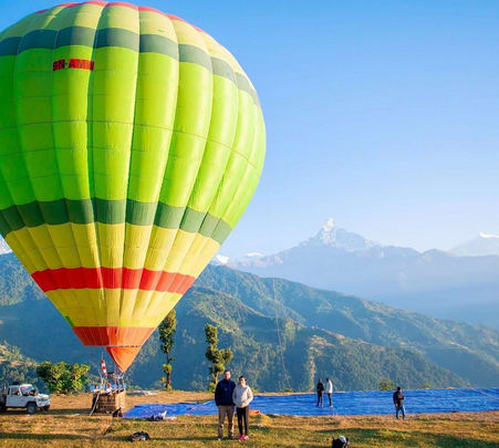 Combo: Hot Air Ballooning with Zipflyer in Nepal