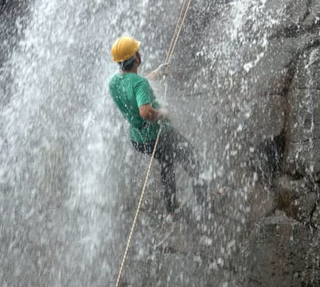 Waterfall Rappelling at Kasara