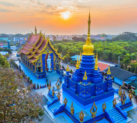 Chiang Rai Black House, White Temple and Blue Temple Tour