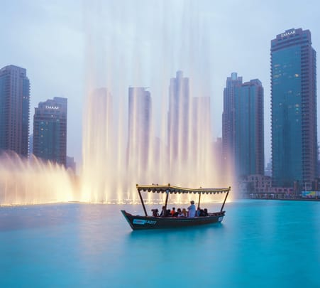Dubai Fountain Lake Ride Flat 10% off