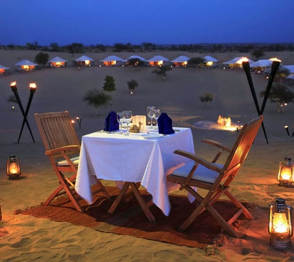 Dinner in desert, Jodhpur
