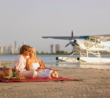 Romantic Flight and Picnic at South Stradbroke Island in Goldcoast