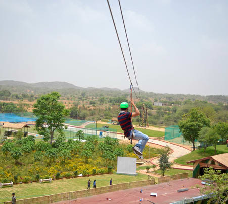 Zip-lining in Jaipur