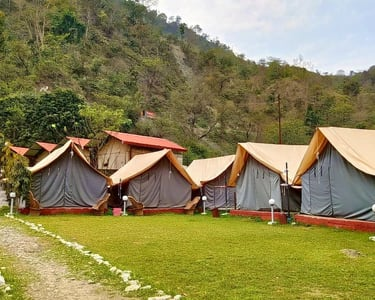 Camping & Trekking in Rishikesh with Rafting @ Flat 51% off