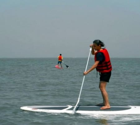 Stand up Paddle Boarding at Mandwa Beach
