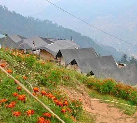 Camping at Awara Camps, Dhanaulti