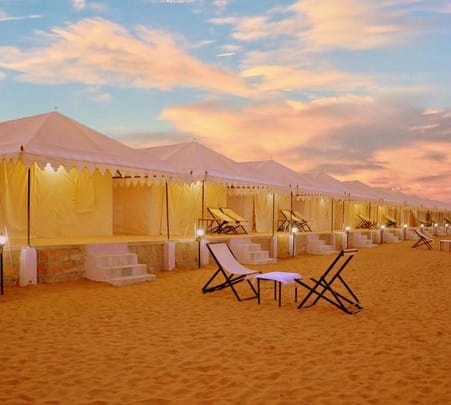 Camping in Jaisalmer with Desert Safari Flat 46% off