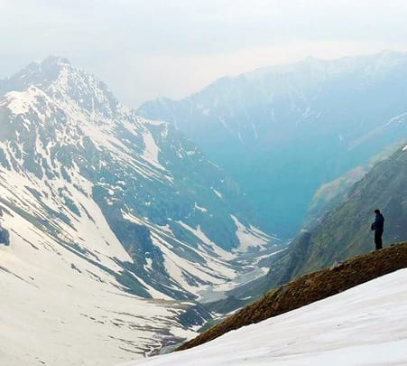 Trekking at Rupin Pass