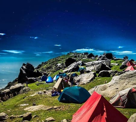 Tekking and Camping at Triund Hills Flat 20% off