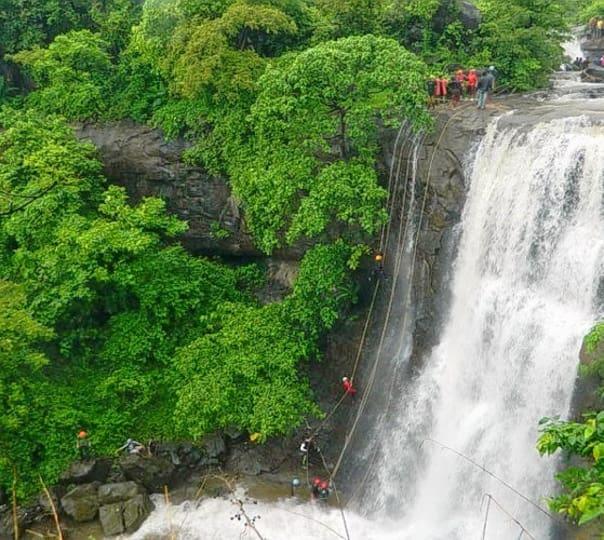 Bhivpuri Waterfall Rappelling, Raigad