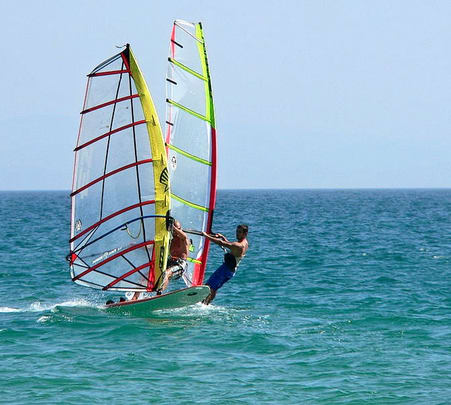 Wind Surfing at Baga Beach in Goa