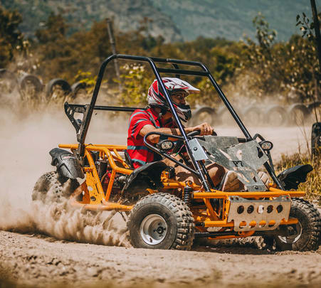 Buggy and Atv Riding on Forest Trails, Manali