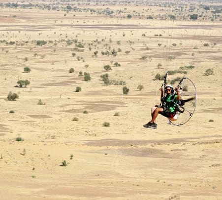 Paramotoring at Jaisalmer