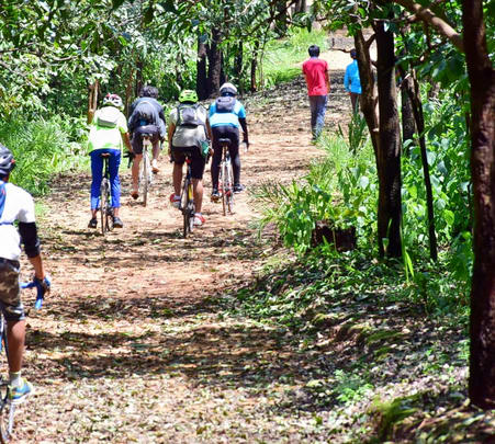 Cycling and Trekking Tour of Khajuraho with Raneh Falls