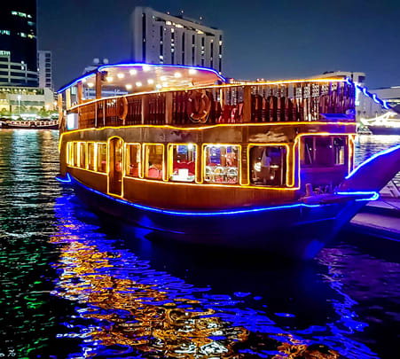 Private Dhow Cruise in Dubai Creek Flat 10% off