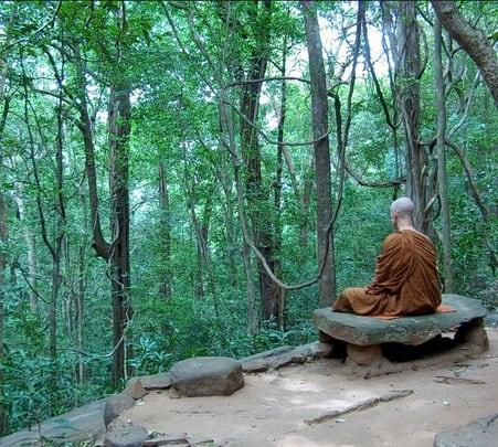 Trekking to Weligalpoththa Buddhist Monastery