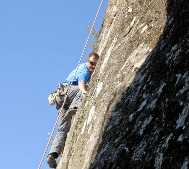 Rock Climbing at Chichoga in Manali