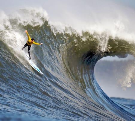 Surfing at Aromba Beach in Goa