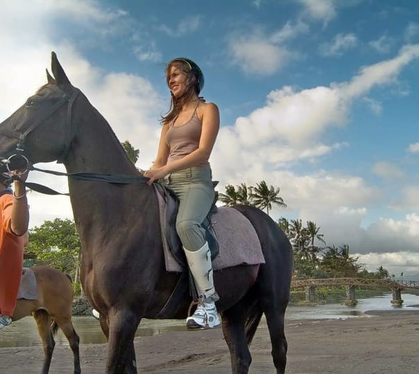 Horse Riding on Saba Bay Beach in Bali