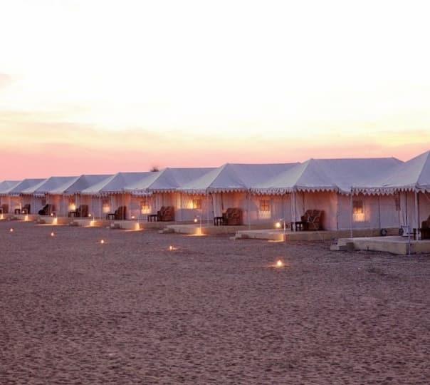 Camping at Wind Desert in Jaisalmer