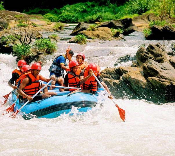 Rafting at Kitulgala in Sri Lanka