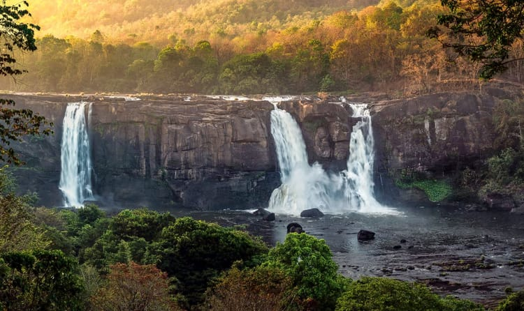 Listen To Musical Sound of Falling Water At Athirapally Falls