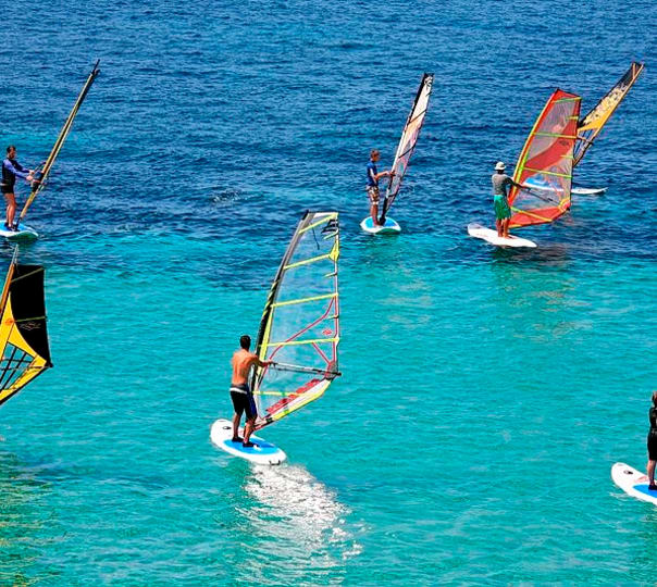 Windsurfing in Tung Lung Island