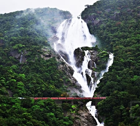 Adventure Trekking to Dudhsagar from Pune and Mumbai